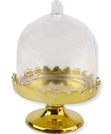 Mini Servierplatte mit Glocke (Gold)_opt